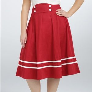 Torrid Nautical Swing/Circle Skirt ⚓️